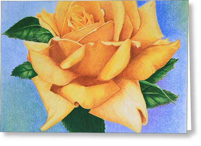 Yellow Rose Greeting Card by Marna Edwards Flavell