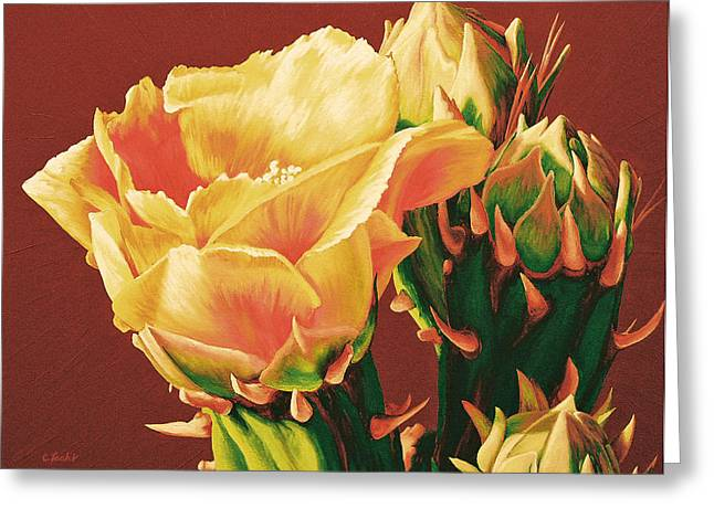 Yellow Rose Of The Desert Greeting Card