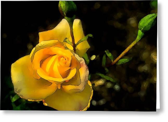 Yellow Rose 2 Greeting Card