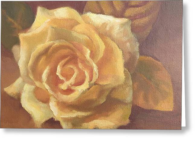 Yellow Rose Greeting Card by Sharon Weaver
