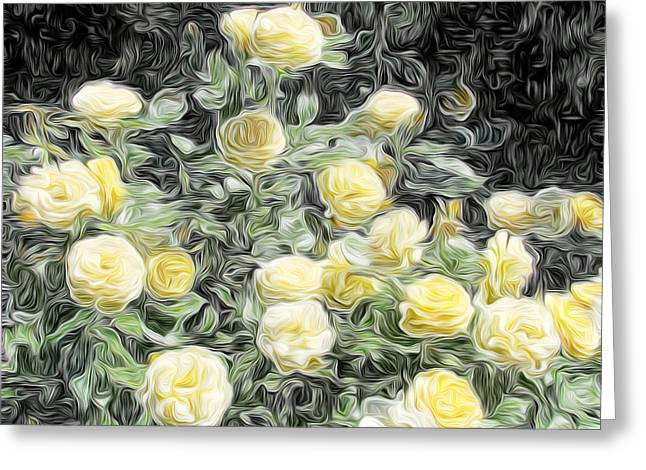 Yellow Roses Greeting Card