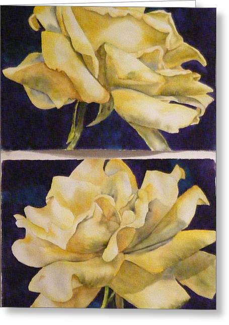 Yellow Roses Diptych Greeting Card