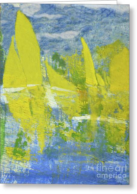 Yellow Sails Greeting Card by Sharon Eng