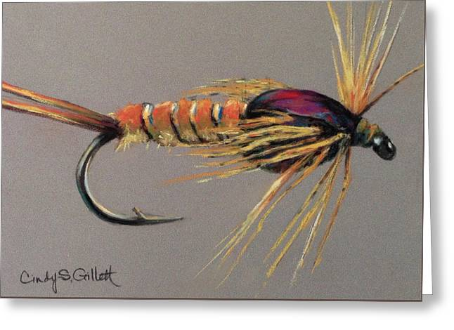 Yellow Sally Stonefly Nymph Greeting Card