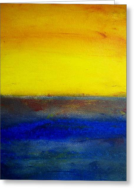 Yellow Sky 1 Greeting Card