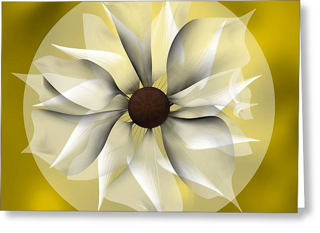 Yellow Soft Flower Greeting Card