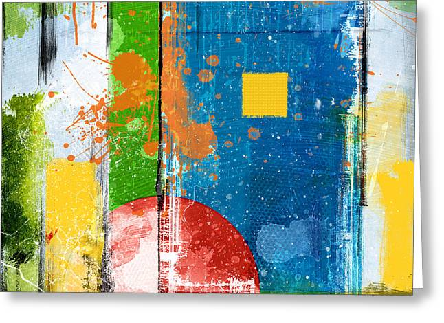 Yellow Square Greeting Card