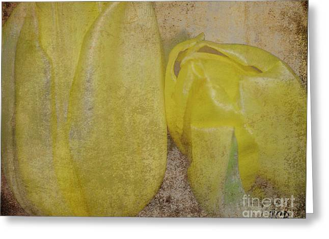 Greeting Card featuring the photograph Yellow Strands by Traci Cottingham