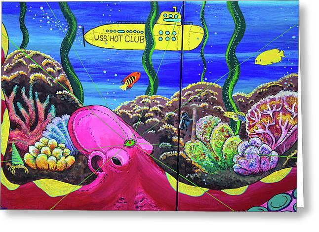 Yellow Submarine Greeting Card by Karol Livote