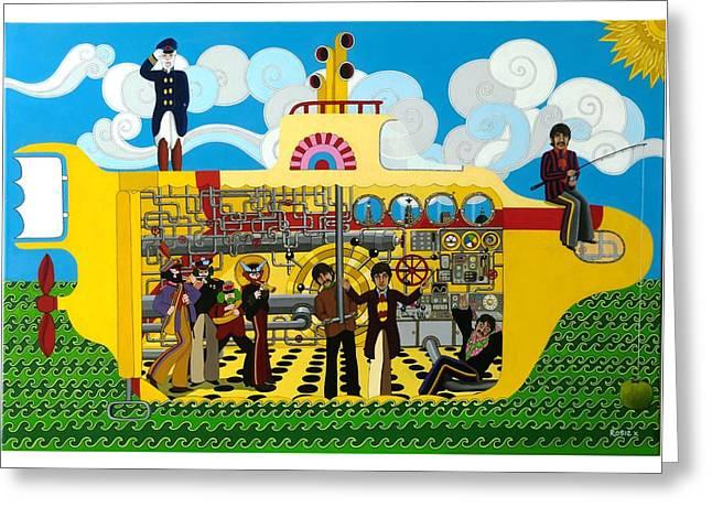 Yellow Submarine Greeting Card by Rosie Harper