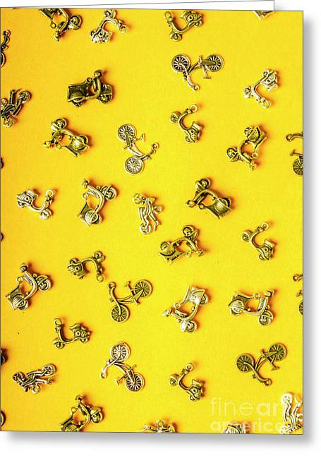 Yellow Summer Transport Greeting Card
