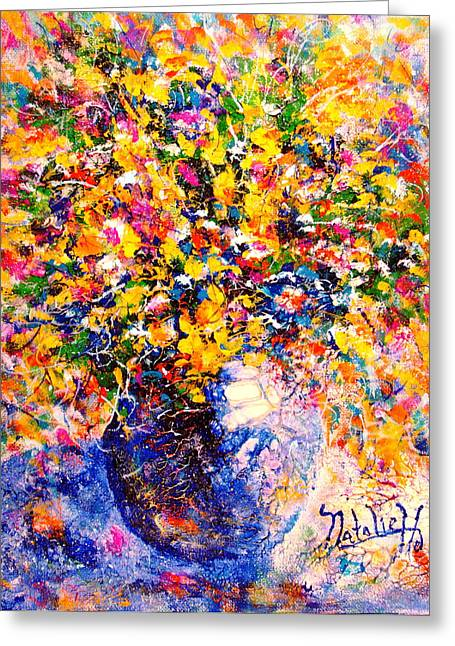 Natalie Holland Greeting Cards - Yellow Sunshine Greeting Card by Natalie Holland