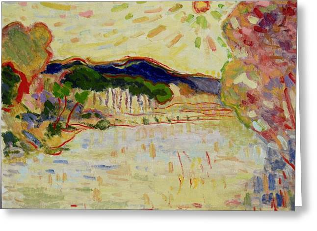 Beynac Et Cazenac , Dordogne , Yellow Sunshine  Greeting Card