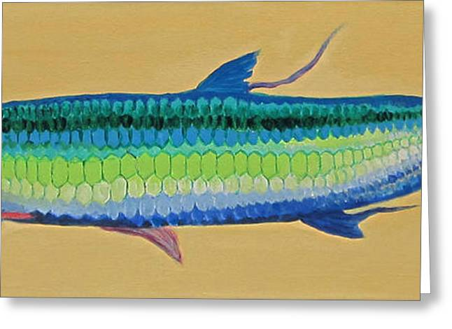 Yellow Tarpon Greeting Card by Anne Marie Brown