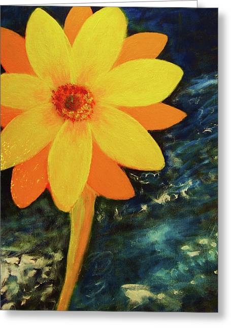Yellow Treat Greeting Card by John Scates