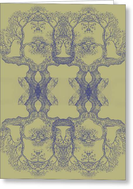 Yellow Tree 14 Hybrid 4 Greeting Card