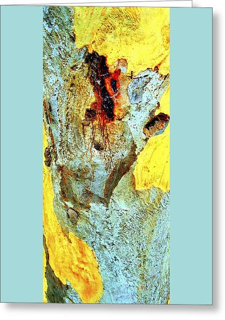 Yellow Tree - And  Ant  Australia Greeting Card