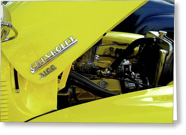 Yellow Truck Greeting Card by Kristie  Bonnewell