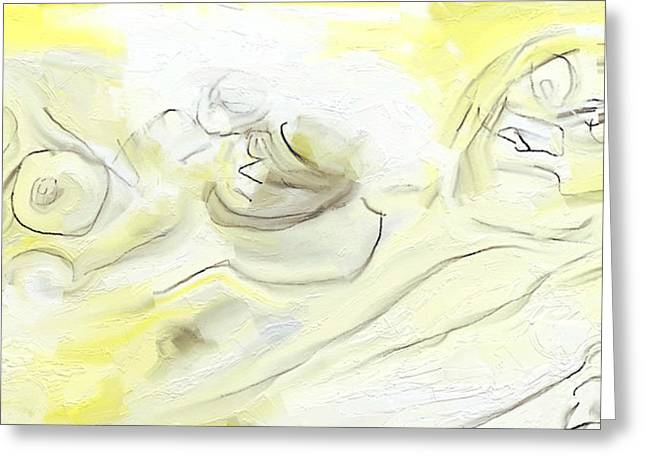 Yellow Tryst  Greeting Card by Frederick Luff
