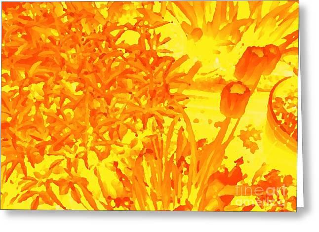 Yellow Tulips  Greeting Card by John  Bichler