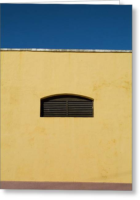Yellow Wall In Trinidad Greeting Card by Sami Sarkis
