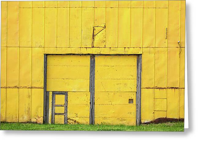 Yellow Wall Greeting Card by Todd Klassy