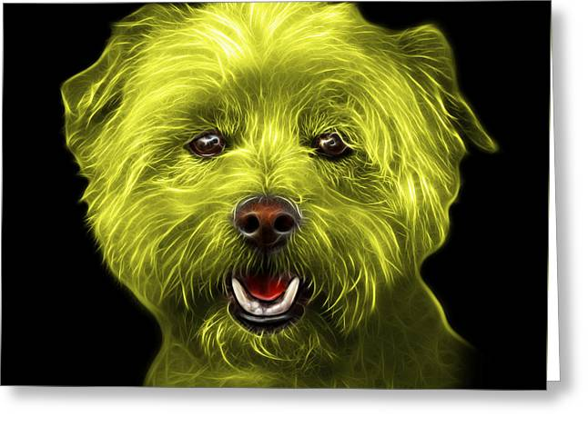 Yellow West Highland Terrier Mix - 8674 - Bb Greeting Card