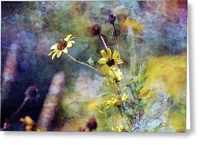 Yellow Wildflowers 3230 Idp_2 Greeting Card