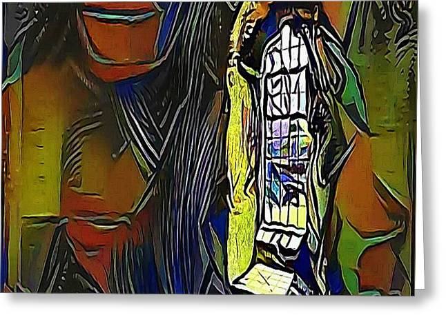 yellow window - My WWW vikinek-art.com Greeting Card