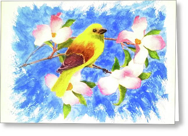Yellow Winged Greeting Card