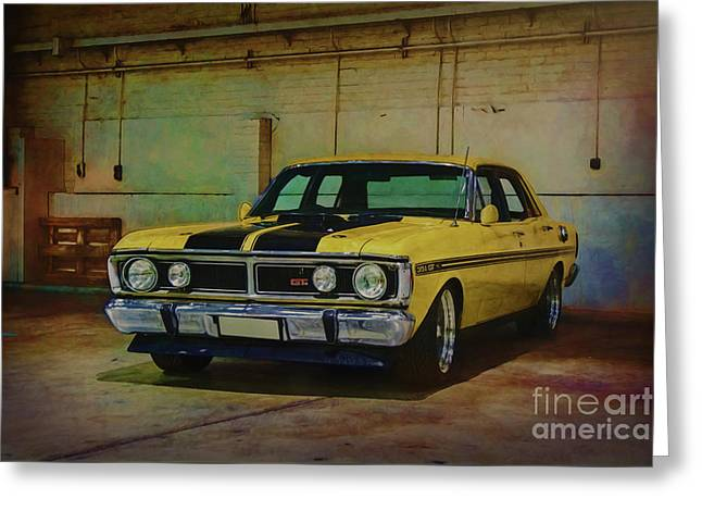 Yellow Xy Falcon Gt Greeting Card by Stuart Row