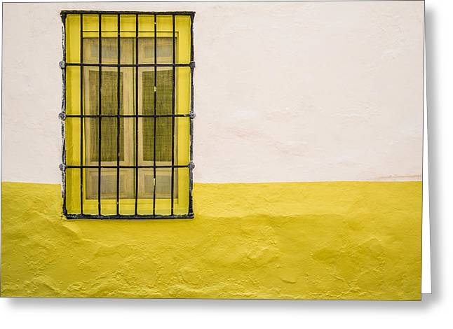 Yellowed Wall Greeting Card