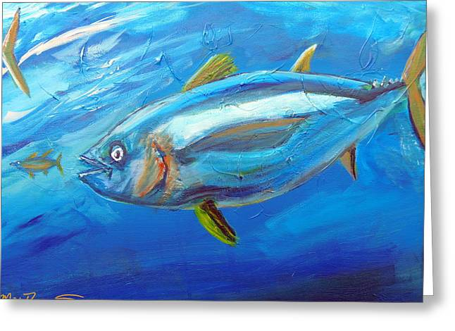 Yellowfin Muscle Greeting Card by Max Bowermeister