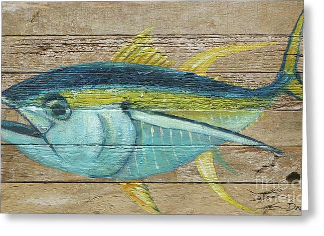Yellowfin Tuna Greeting Card by Danielle Perry