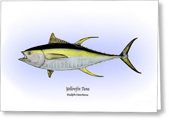 Yellowfin Tuna Greeting Card by Ralph Martens