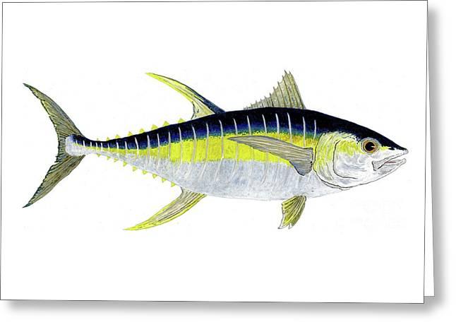Yellowfin Tuna Greeting Card