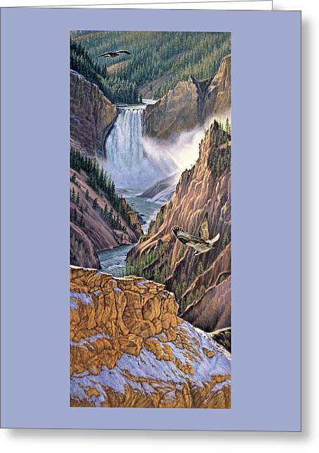 Yellowstone Canyon-osprey Greeting Card