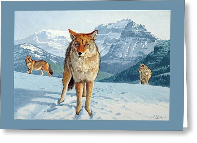 Yellowstone Coyotes Greeting Card