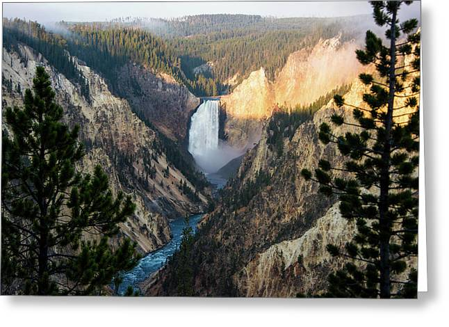 Greeting Card featuring the photograph Yellowstone Falls by Jennifer Ancker