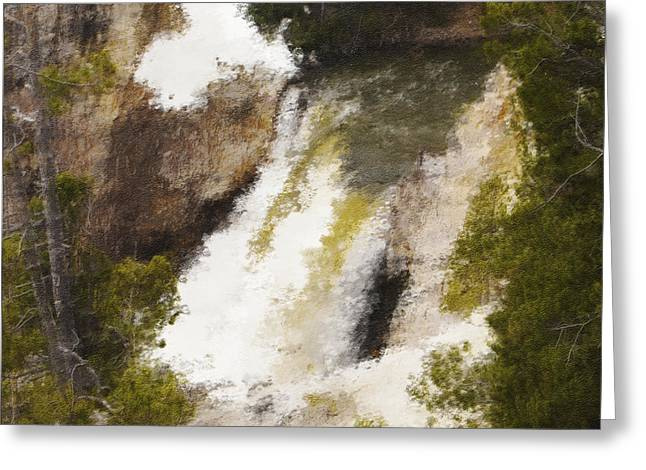 Yellowstone Falls Greeting Card by Jo-Anne Gazo-McKim
