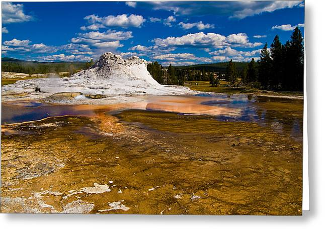 Yellowstone Geyser Greeting Card by Patrick  Flynn