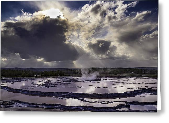 Yellowstone Geysers And Hot Springs Greeting Card by Jason Moynihan