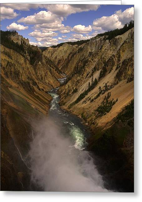 Yellowstone Grand Canyon Greeting Card by Patrick  Flynn