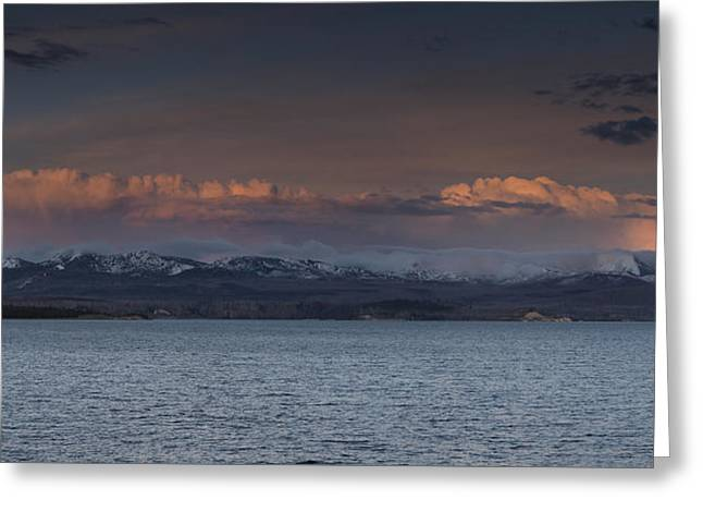 Yellowstone Lake At Sunset Greeting Card