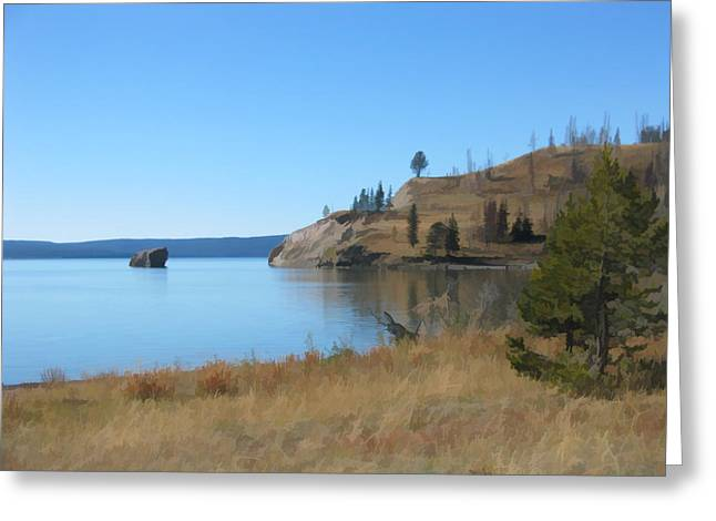 Yellowstone Lake Se Greeting Card