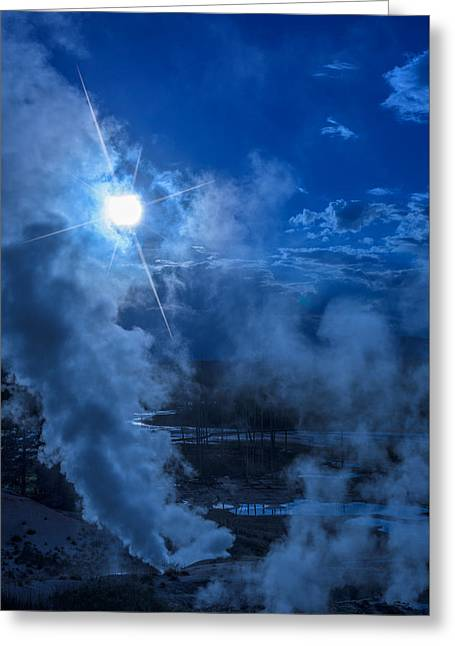 Yellowstone Norris Basin Geyser Greeting Card