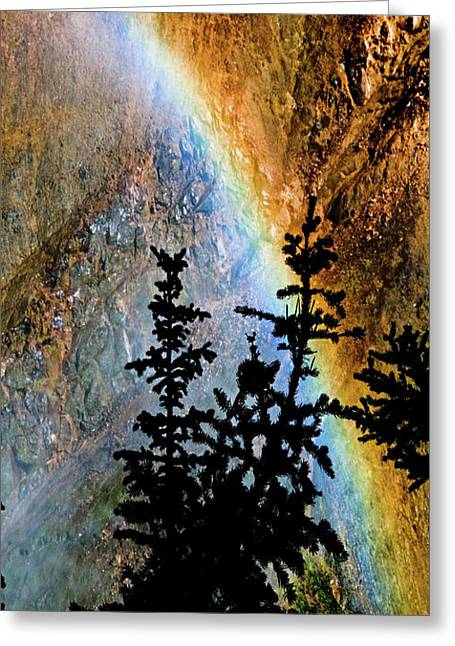 Greeting Card featuring the photograph Yellowstone Rainbow by Norman Hall