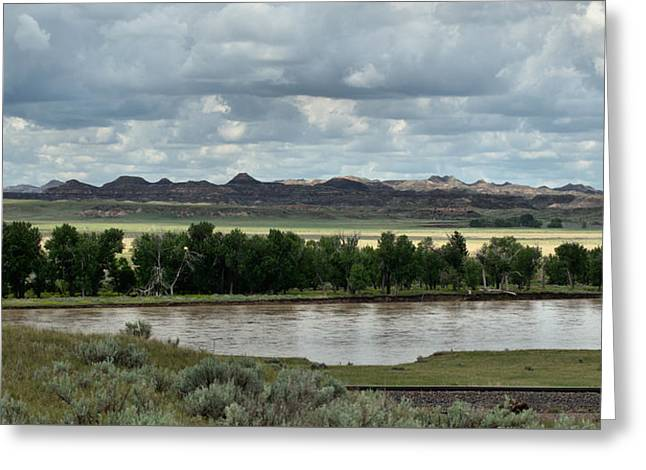 Yellowstone River After The Storm Greeting Card by Aliceann Carlton