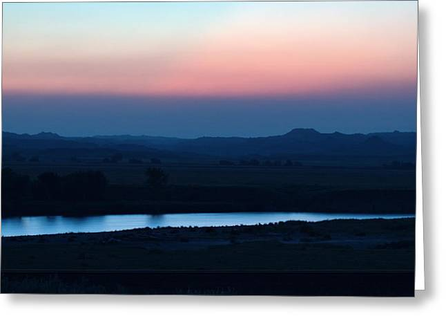 Yellowstone River Evening Greeting Card by Aliceann Carlton