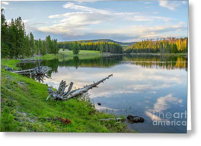 Yellowstone River Off Grand Loop Greeting Card